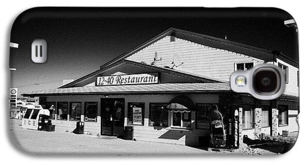 Sask Galaxy S4 Cases - 12-40 restaurant and highway gas station blaine lake Saskatchewan Canada Galaxy S4 Case by Joe Fox