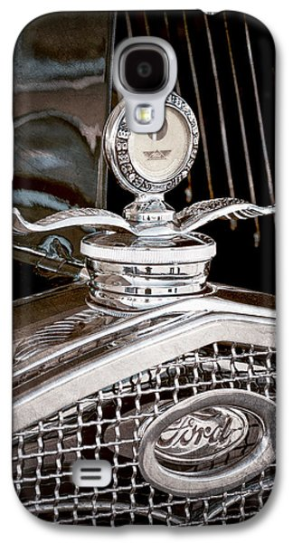 Transportation Photographs Galaxy S4 Cases - 1931 Model A Ford Deluxe Roadster Hood Ornament Galaxy S4 Case by Jill Reger