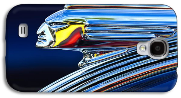 Classic Cars Photographs Galaxy S4 Cases - 1939 Pontiac Silver Streak Chief Hood Ornament Galaxy S4 Case by Jill Reger
