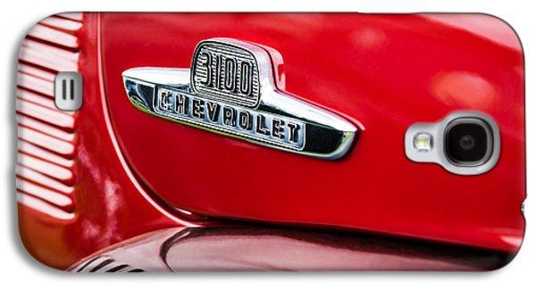 Transportation Photographs Galaxy S4 Cases - 1955 Chevrolet 3100 Pickup Truck Emblem Galaxy S4 Case by Jill Reger