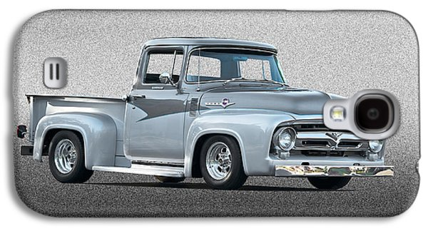 Slam Galaxy S4 Cases - 1956 Ford F100 Custom Pick Up Galaxy S4 Case by Dave Koontz