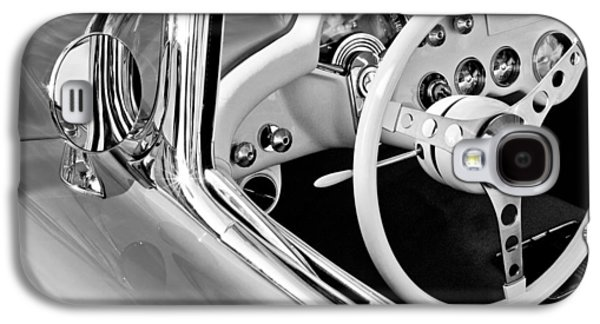 Transportation Photographs Galaxy S4 Cases - 1957 Chevrolet Corvette Steering Wheel Emblem Galaxy S4 Case by Jill Reger
