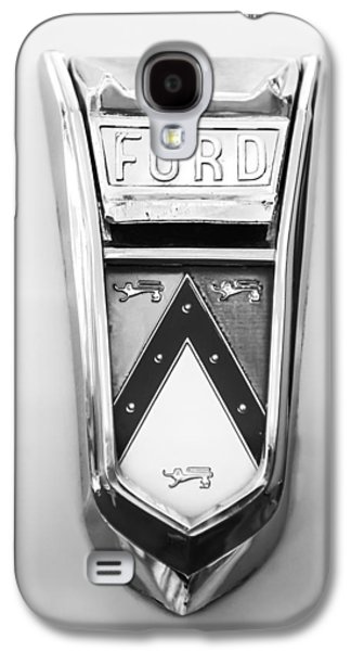 1963 Ford Galaxy S4 Cases - 1963 Ford Falcon Futura Convertible  Emblem Galaxy S4 Case by Jill Reger