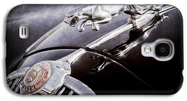 Transportation Photographs Galaxy S4 Cases - 1964 Jaguar MK2 Saloon Hood Ornament and Emblem Galaxy S4 Case by Jill Reger