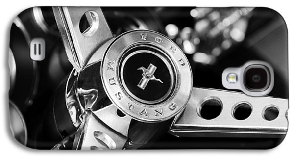 Automobiles Photographs Galaxy S4 Cases - 1969 Ford Mustang Mach 1 Steering Wheel Galaxy S4 Case by Jill Reger