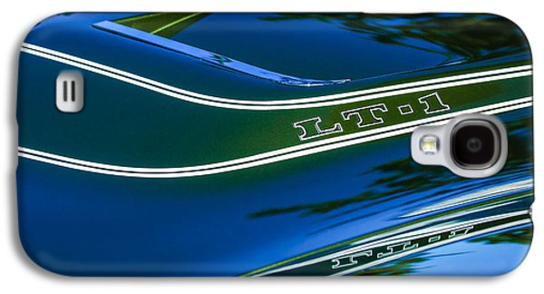 Transportation Photographs Galaxy S4 Cases - 1970 Chevrolet Corvette LT-1 Convertible Hood Emblem Galaxy S4 Case by Jill Reger