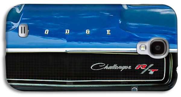 Transportation Photographs Galaxy S4 Cases - 1970 Dodge Challenger RT Convertible Grille Emblem Galaxy S4 Case by Jill Reger