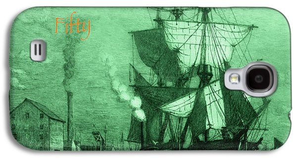 Boats At Dock Galaxy S4 Cases - A Pirate Looks At Fifty Galaxy S4 Case by John Stephens