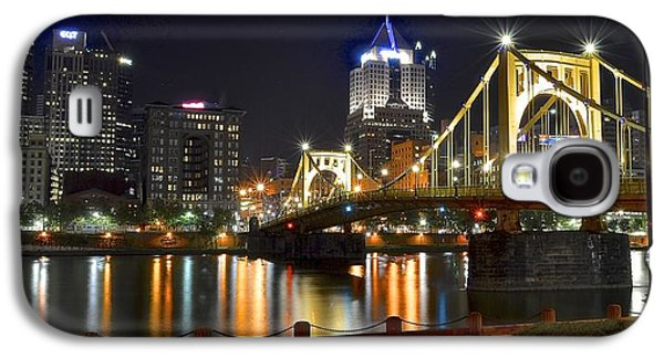 Roberto Clemente Galaxy S4 Cases - A Pittsburgh Night Galaxy S4 Case by Frozen in Time Fine Art Photography