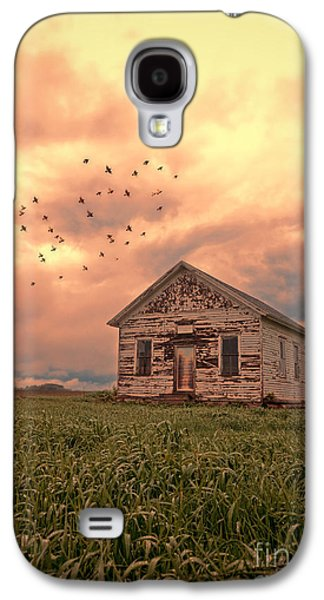 Haunted Schools Galaxy S4 Cases - Abandoned Building in a Storm Galaxy S4 Case by Jill Battaglia