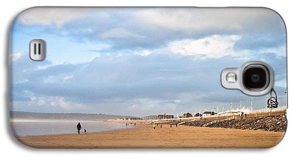 Jogging Galaxy S4 Cases - Aberafan Beach Galaxy S4 Case by Tom Gowanlock