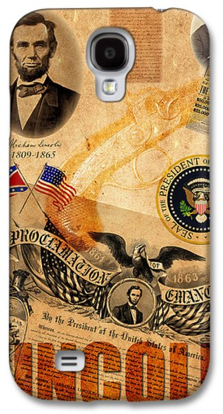 Slavery Galaxy S4 Cases - Abraham Lincoln Galaxy S4 Case by Andrew Fare