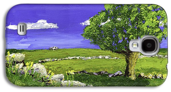 Maine Meadow Galaxy S4 Cases - Tree In Maine Blueberry Field Galaxy S4 Case by Keith Webber Jr