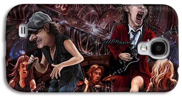 Photoshop Digital Art Galaxy S4 Cases - Ac/dc Galaxy S4 Case by Andre Koekemoer