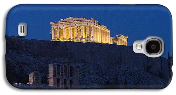 Ancient Galaxy S4 Cases - Acropolis Of Athens At Dusk, Athens Galaxy S4 Case by Panoramic Images