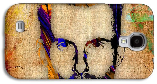 Voice Galaxy S4 Cases - Adam Levine Maroon 5 Painting Galaxy S4 Case by Marvin Blaine