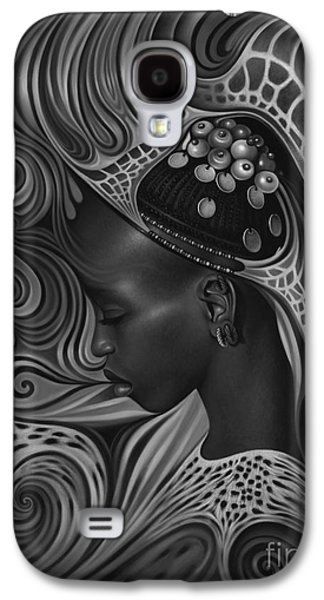 Earth Tones Paintings Galaxy S4 Cases - African Spirits II Galaxy S4 Case by Ricardo Chavez-Mendez
