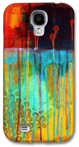 Sunset Abstract Galaxy S4 Cases - After Midnight Galaxy S4 Case by Nancy Merkle