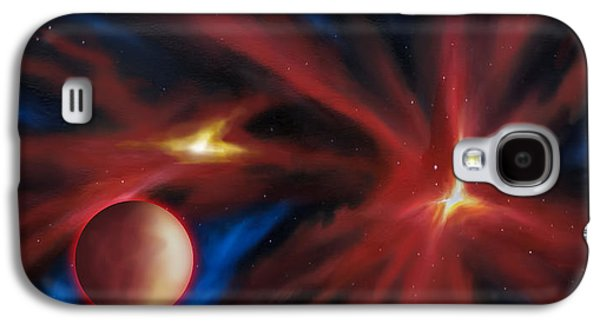 Planet System Paintings Galaxy S4 Cases - Agamnenon Nebula Galaxy S4 Case by James Christopher Hill
