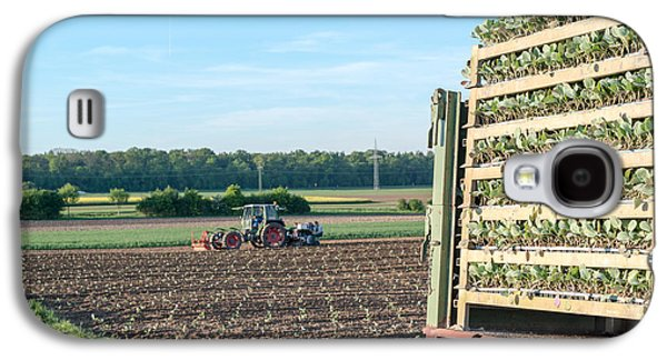 Machinery Galaxy S4 Cases - Agriculture - tractor sowing salad Galaxy S4 Case by Frank Gaertner