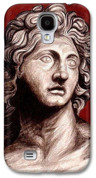 Ancient Sculptures Galaxy S4 Cases - Alexander The Great Galaxy S4 Case by Thiras art