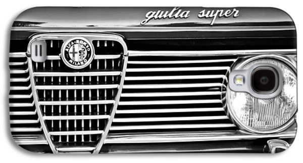 Transportation Photographs Galaxy S4 Cases - Alfa-Romeo Guilia Super Grille Emblem Galaxy S4 Case by Jill Reger
