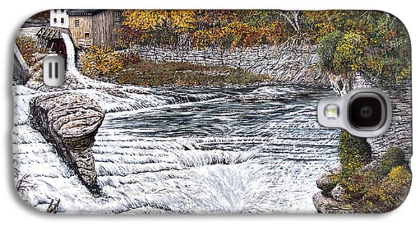 Grist Mill Paintings Galaxy S4 Cases - Alora Gorge Galaxy S4 Case by Wanda Kightley