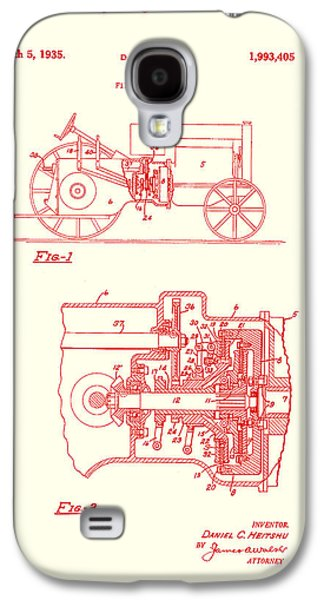 Machinery Drawings Galaxy S4 Cases - Antique Massey-Ferguson Tractor Patent 1935 Galaxy S4 Case by Mountain Dreams