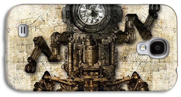 Component Mixed Media Galaxy S4 Cases - Antique mechanical figure Galaxy S4 Case by Diuno Ashlee