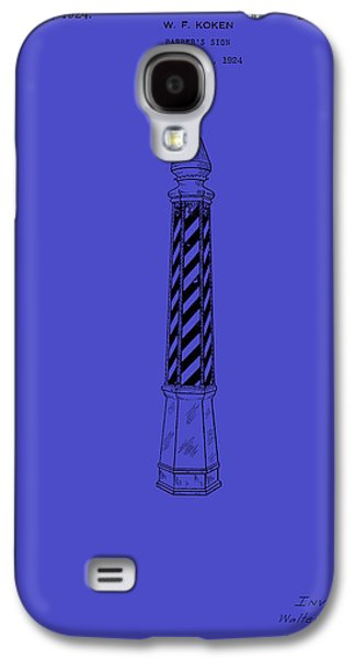Pole Drawings Galaxy S4 Cases - Antique Patent for Barbers Pole 1924 Galaxy S4 Case by Mountain Dreams
