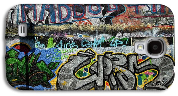 Artistic Graffiti On The U2 Wall Galaxy S4 Case by Panoramic Images