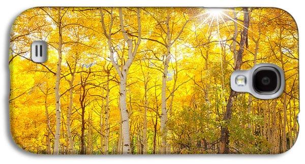 Landscape Acrylic Prints Galaxy S4 Cases - Aspen Morning Galaxy S4 Case by Darren  White