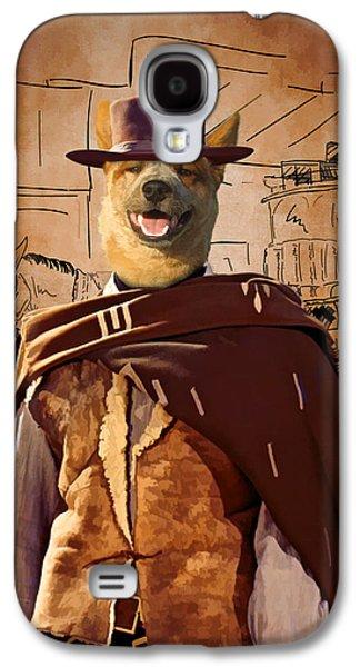 Cattle Dog Paintings Galaxy S4 Cases - Australian Cattle Dog Art Canvas Print  Galaxy S4 Case by Sandra Sij