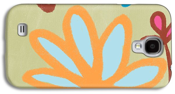 Floral Abstract Galaxy S4 Cases - Bali Garden Galaxy S4 Case by Linda Woods