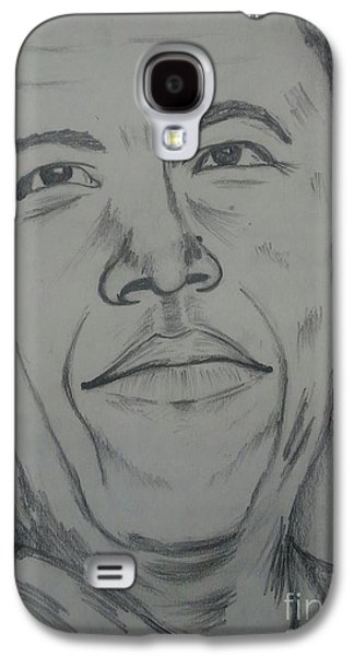 Barack Obama Drawings Galaxy S4 Cases - Barack Obama Galaxy S4 Case by Collin A Clarke