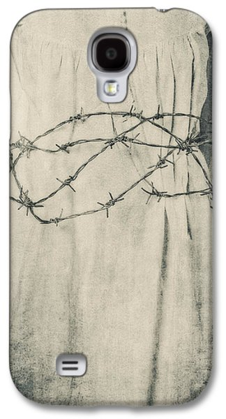 Creepy Galaxy S4 Cases - Barbed Wire Galaxy S4 Case by Joana Kruse