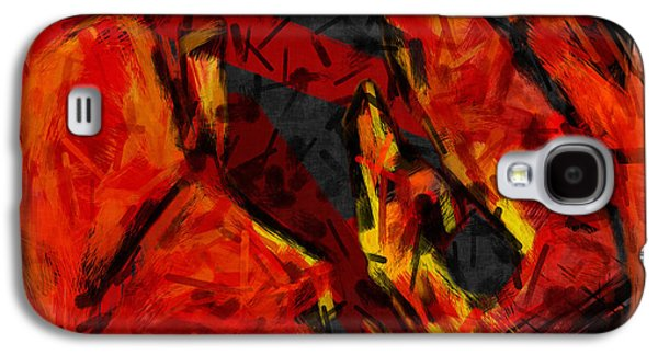 Basketball Abstract Galaxy S4 Cases - Basketball Abstract Galaxy S4 Case by David G Paul