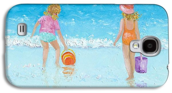 At The Seaside Galaxy S4 Case by Jan Matson