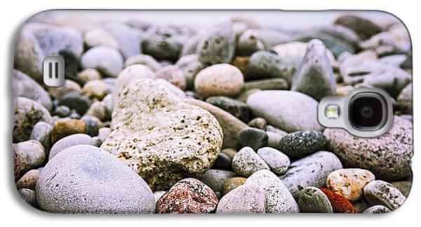 Rock Galaxy S4 Cases - Beach pebbles Galaxy S4 Case by Elena Elisseeva