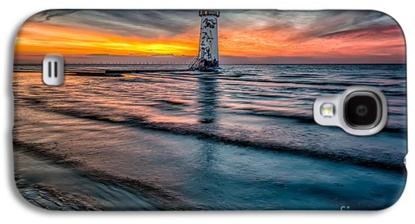 Sunsets Digital Art Galaxy S4 Cases - Beach Sunset Galaxy S4 Case by Adrian Evans