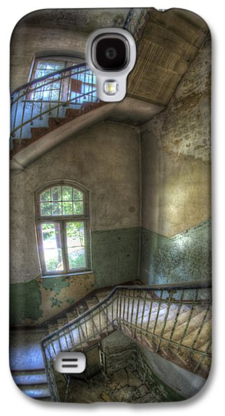 Creepy Digital Galaxy S4 Cases - Beelitz stairs  Galaxy S4 Case by Nathan Wright