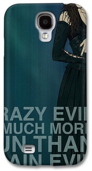 Green Posters Digital Galaxy S4 Cases - Bellatrix Lestrange Galaxy S4 Case by Christopher Ables