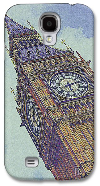 Lamp Post Mixed Media Galaxy S4 Cases - Big Ben in London Galaxy S4 Case by Celestial Images