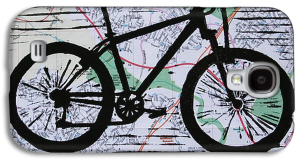 Ten Speed Drawings Galaxy S4 Cases - Bike 10 Galaxy S4 Case by William Cauthern