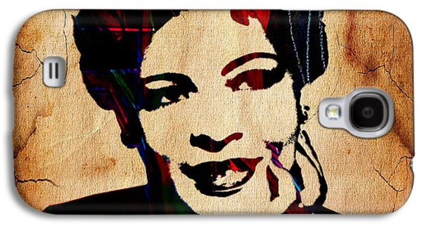 Pop Mixed Media Galaxy S4 Cases - Billie Holiday Collection Galaxy S4 Case by Marvin Blaine