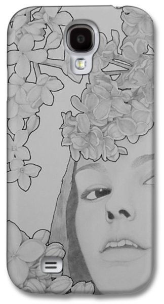 Lilacs Drawings Galaxy S4 Cases - Blooming Girl Lilac  Galaxy S4 Case by Aaron El-Amin
