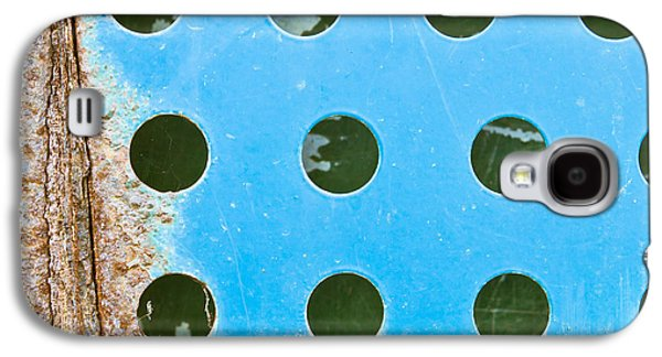 Aperture Photographs Galaxy S4 Cases - Blue metal Galaxy S4 Case by Tom Gowanlock