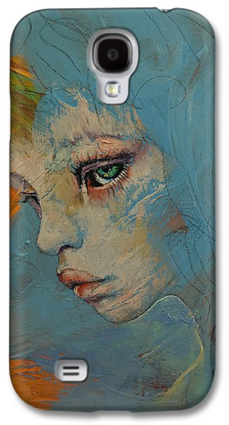 Melancholy Galaxy S4 Cases - Blue Galaxy S4 Case by Michael Creese