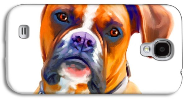 Buy Dog Digital Galaxy S4 Cases - Boxer Dog Art Galaxy S4 Case by Iain McDonald