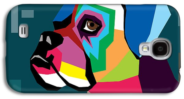 Dogs Digital Galaxy S4 Cases - Boxer  Galaxy S4 Case by Mark Ashkenazi